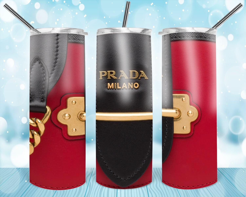 Red/black Leather Look Prada Tumbler