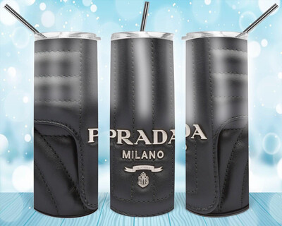 Black Leather Look Prada Tumbler