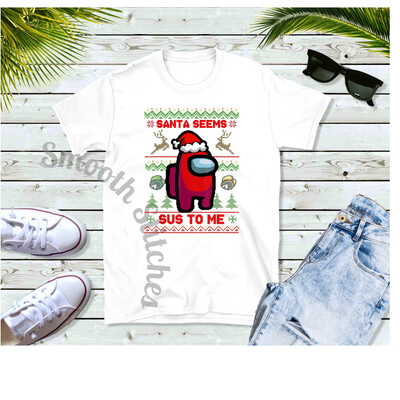 Among Us Santa Seems Sus 2 shirts