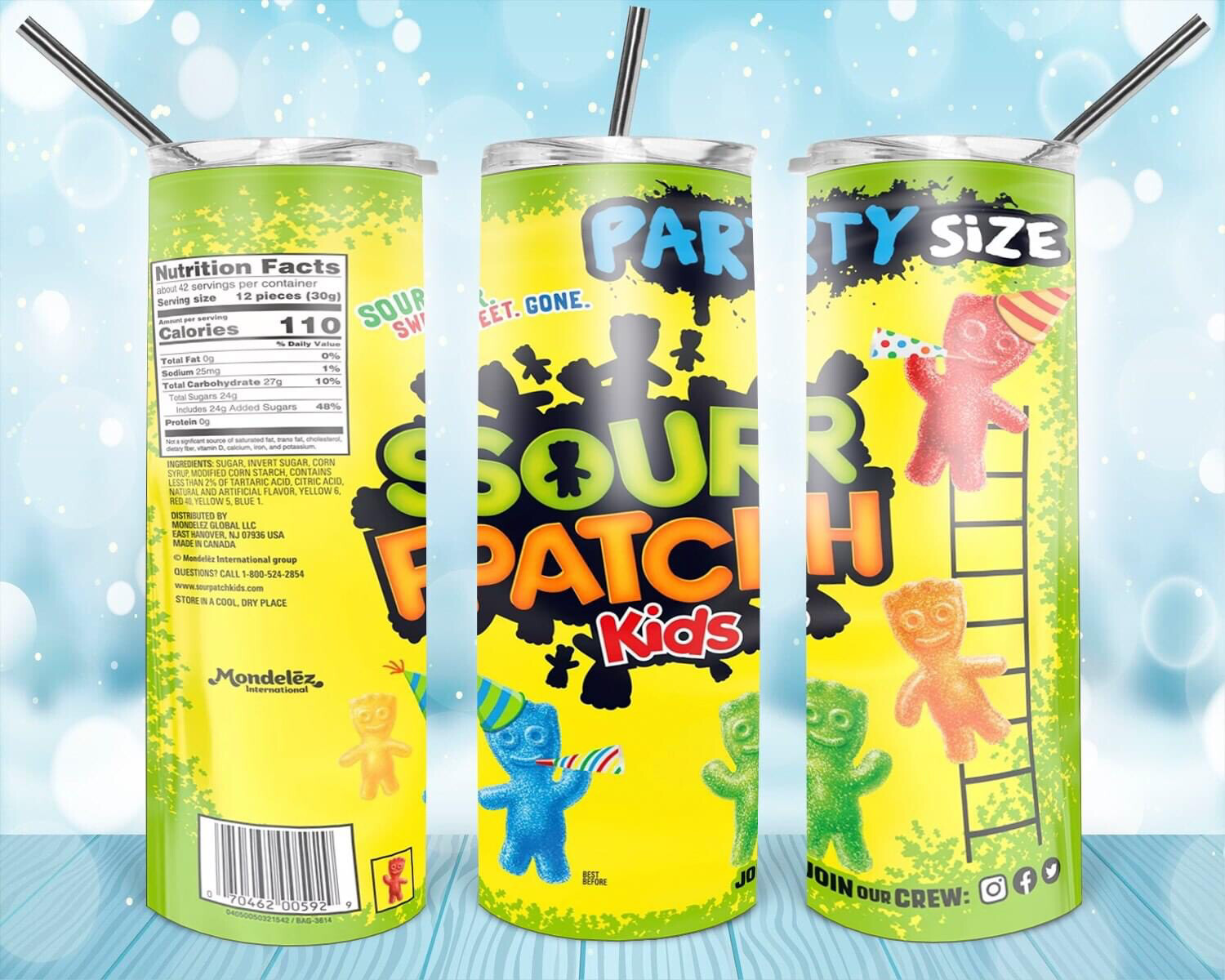 Sour Patch Kids Label Tumbler