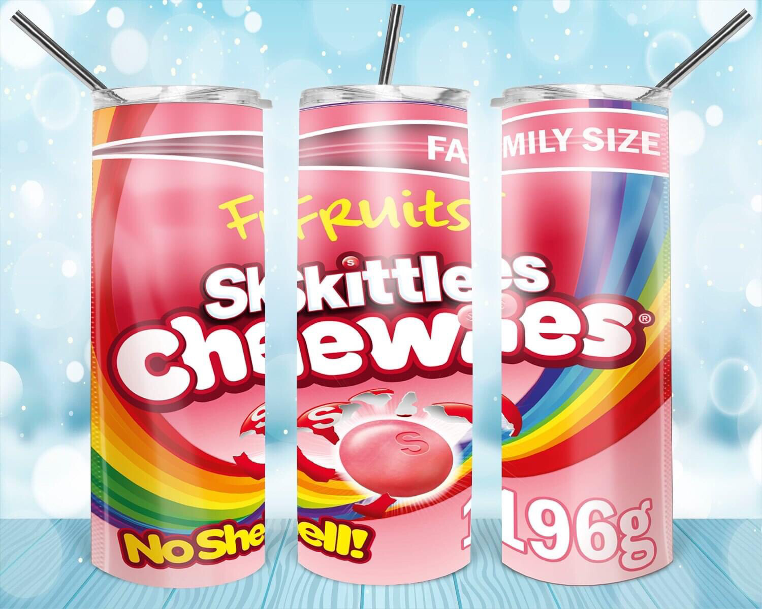 Chewable Skittles Label Tumbler