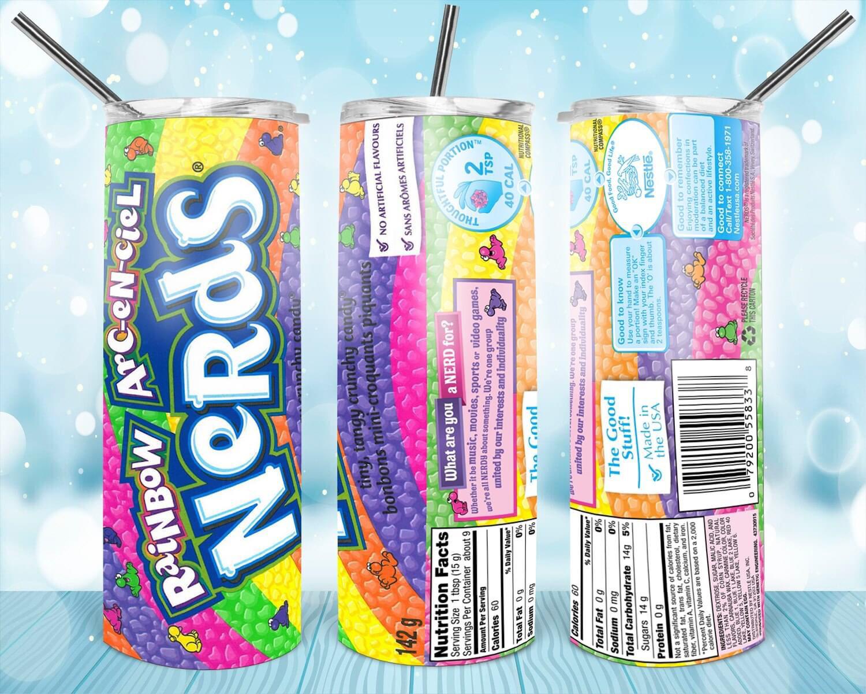 Rainbow Nerds Label Tumbler