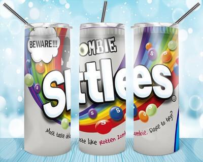 Zombie Skittles Label Tumbler