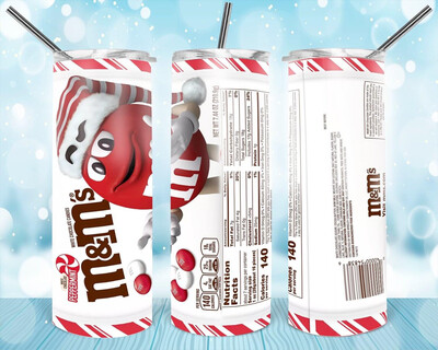 M&M  Christmas Label Tumbler