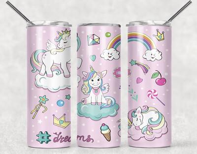Pink Unicorn Tumbler