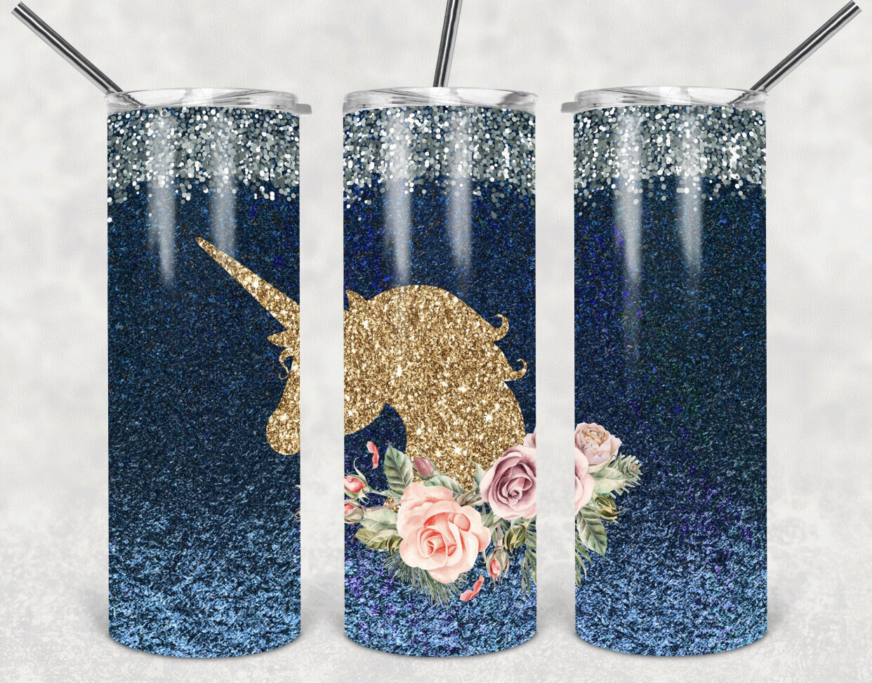 Unicorn Glitter Look Tumbler