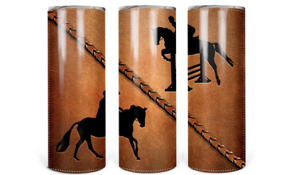 Horse Leather Look Tumbler