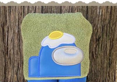 Among Us Egghead Hooded Towel
