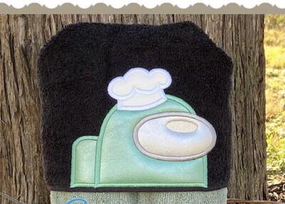 Among Us Chef Hooded Towel