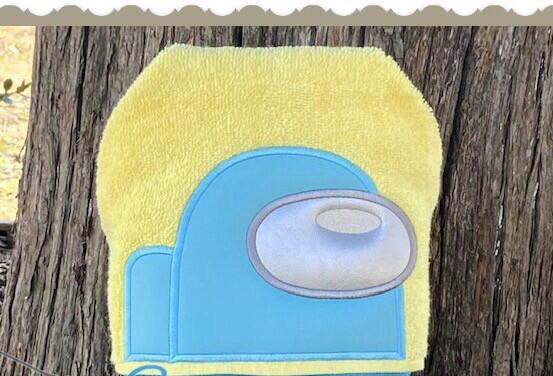 Among Us Crewmate Hooded Towel