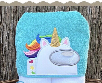 Among Us Unicorn Hooded Towel
