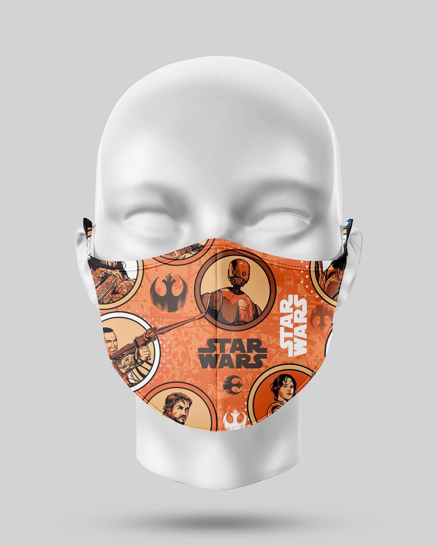 Star Wars Orange Rouge One Face Mask