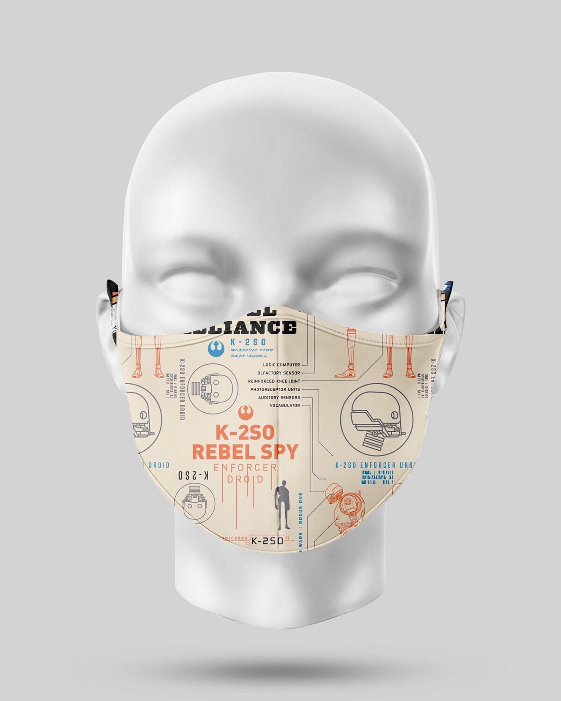 Star Wars Orange K-2S0 Face Mask