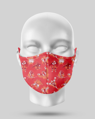 Red Avengers Face Mask