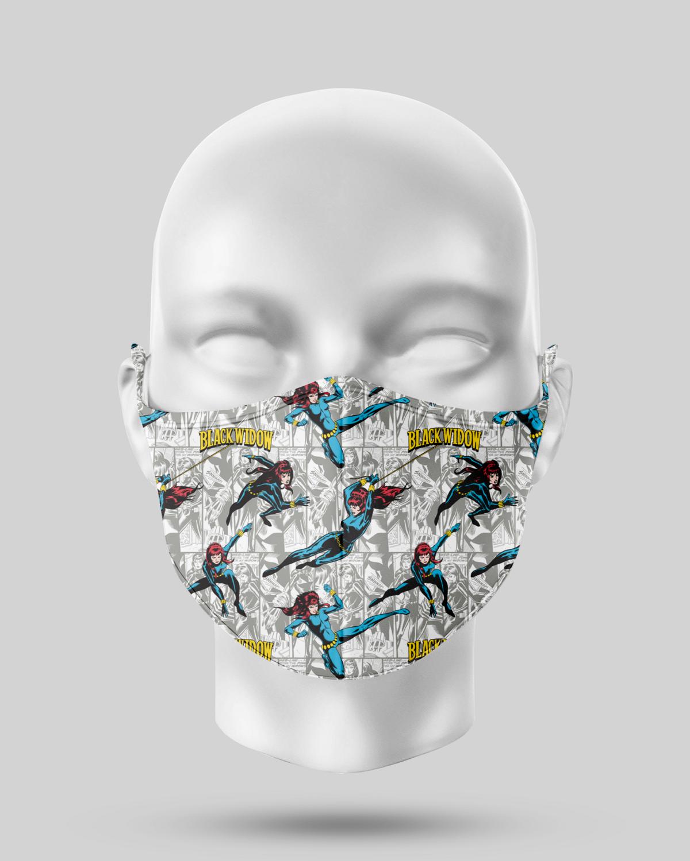 Black Widow Comic Face Mask