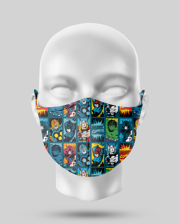 Superhero Blue Face Mask