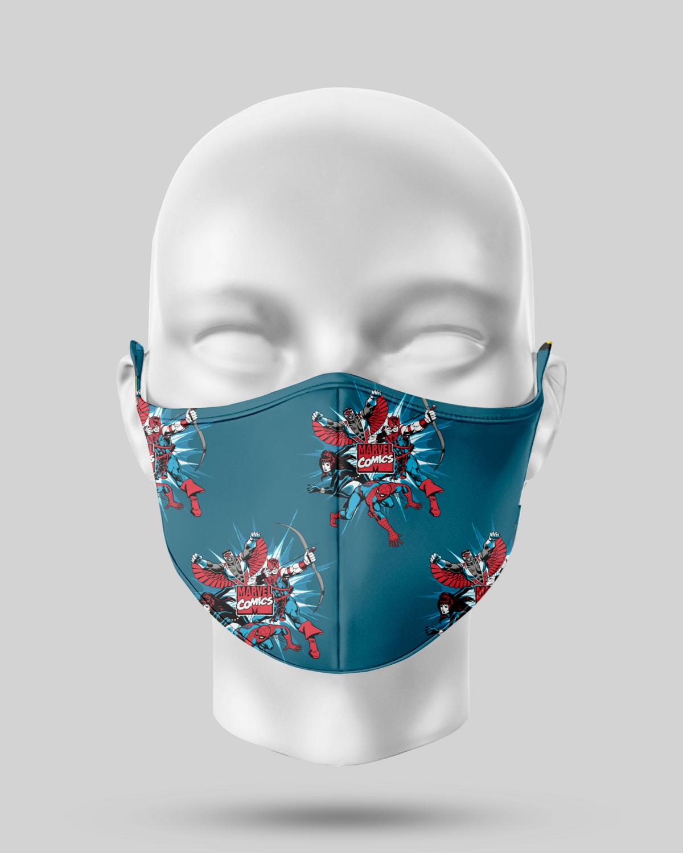 Blue Marvel Superhero Face Mask