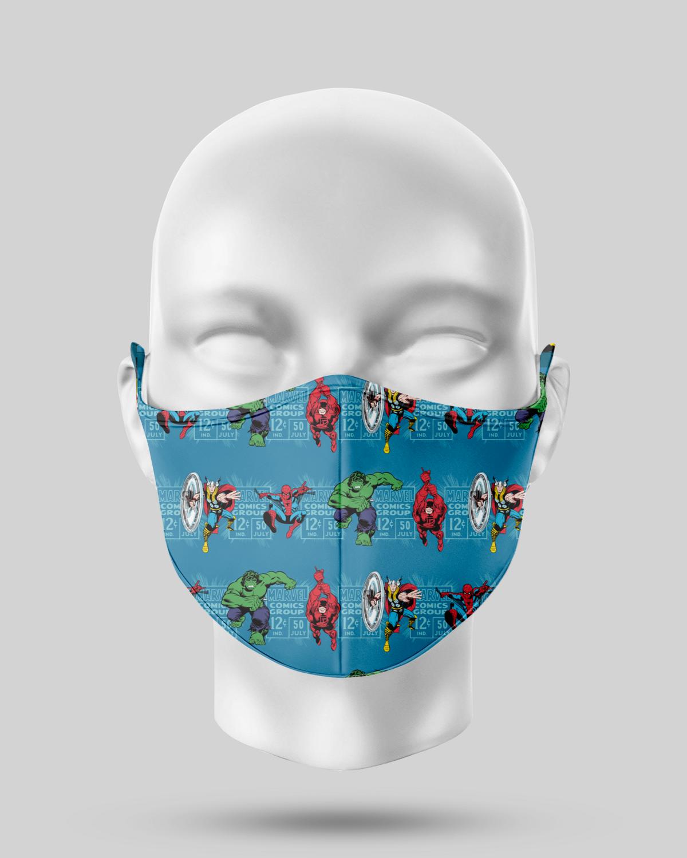 Blue Marvel Avengers Face Mask