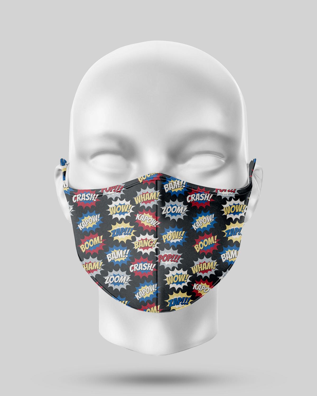 Comic Pop Face Mask
