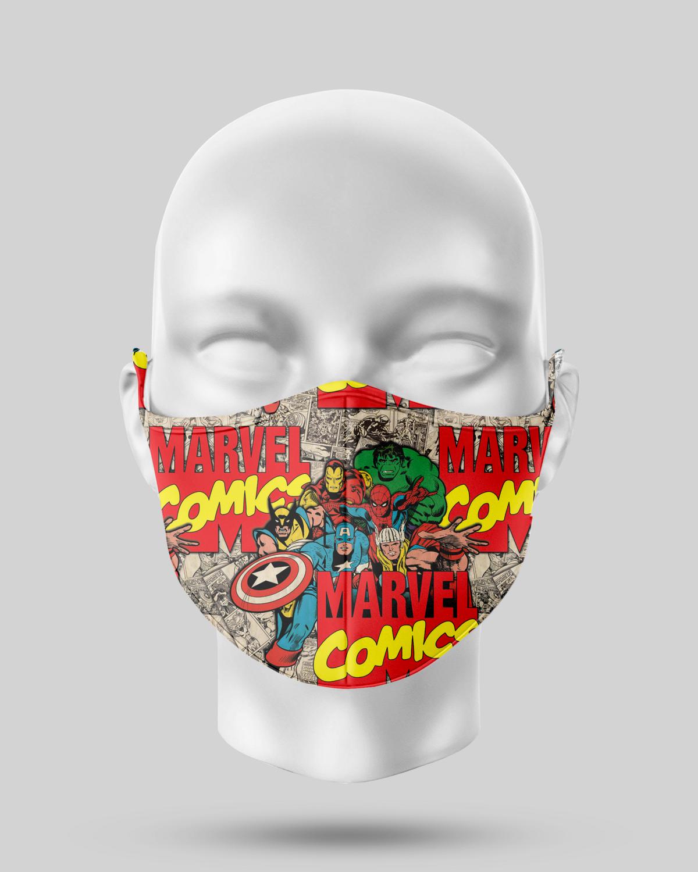 Comic Avengers Face Mask