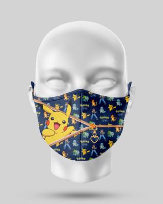 Zipper Picachu Face Mask