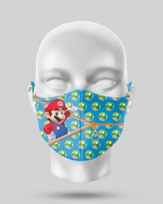 Zipper Super Mario Face Mask