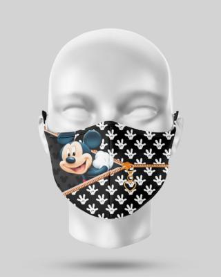 Zipper Black Mickey Face Mask