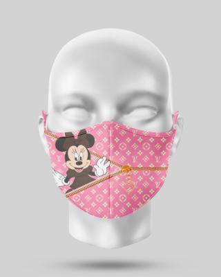 Zipper LV Minnie Mouse Face Mask