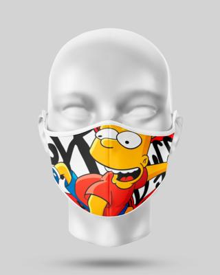 Bart Simpson Face Mask