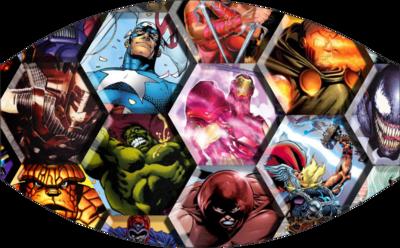 Hexagon Avengers Face Mask