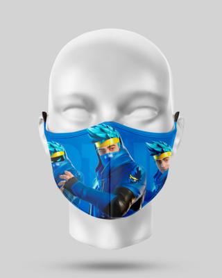 Blue Fortnite Face Mask