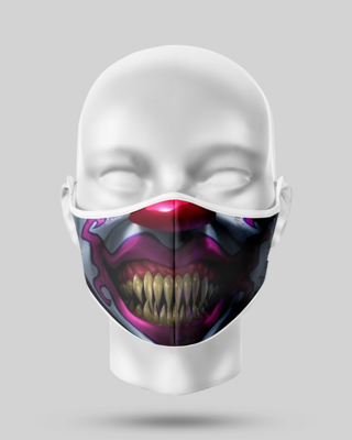 Bad Clown Teeth Face Mask