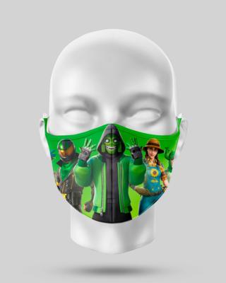 Green Fortnite Face Mask