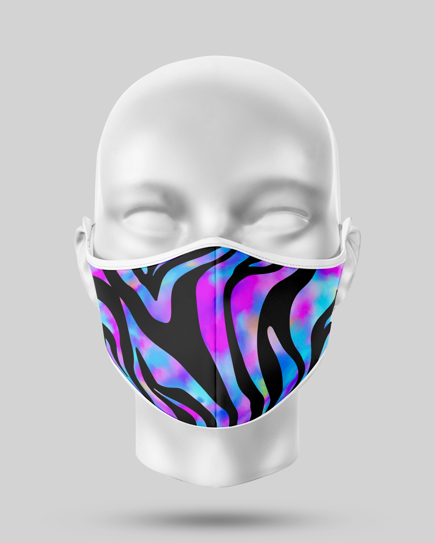 Purple Zebra Face Mask