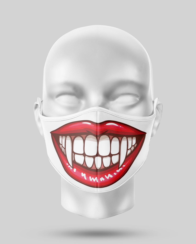 Fangs teeth Face Mask
