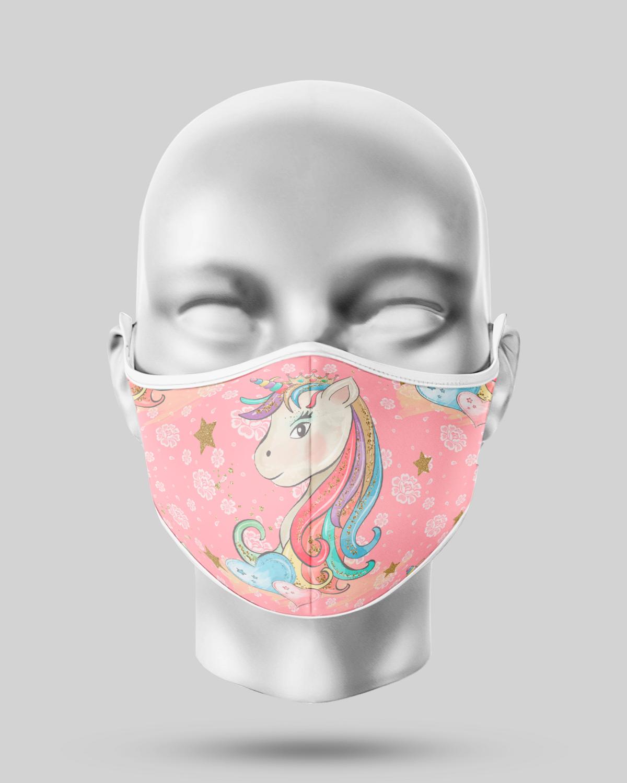 Pink Unicorn Face Mask