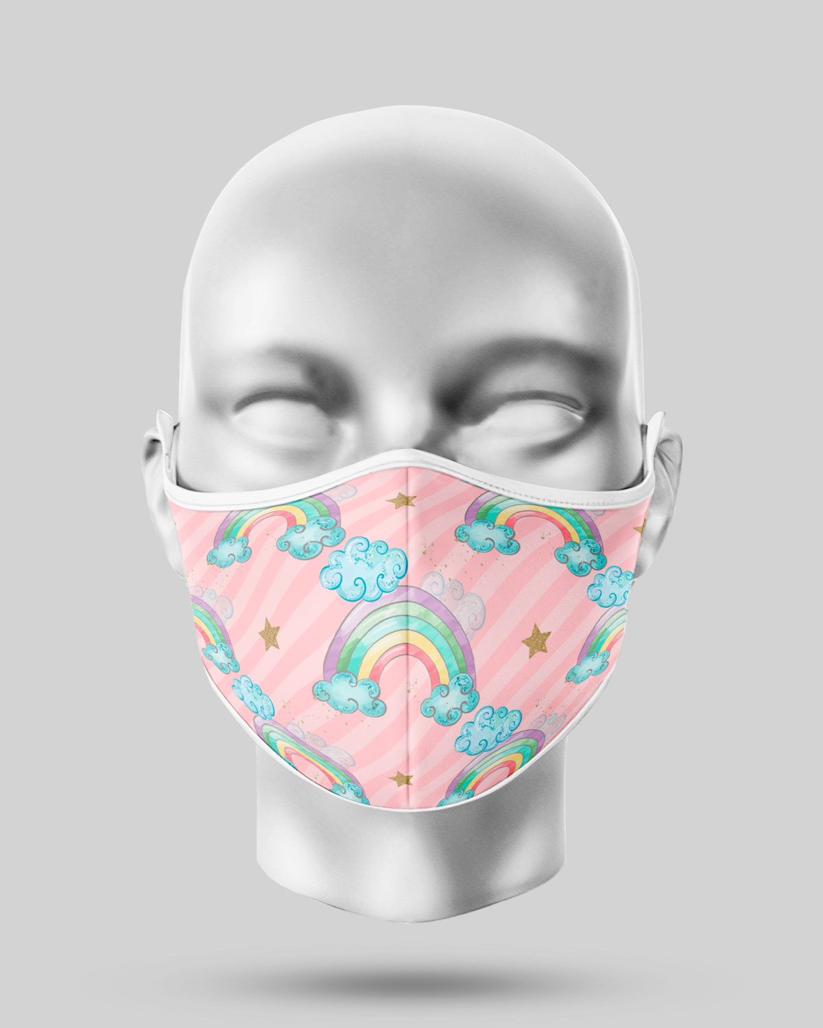 Pink Rainbow Face Mask