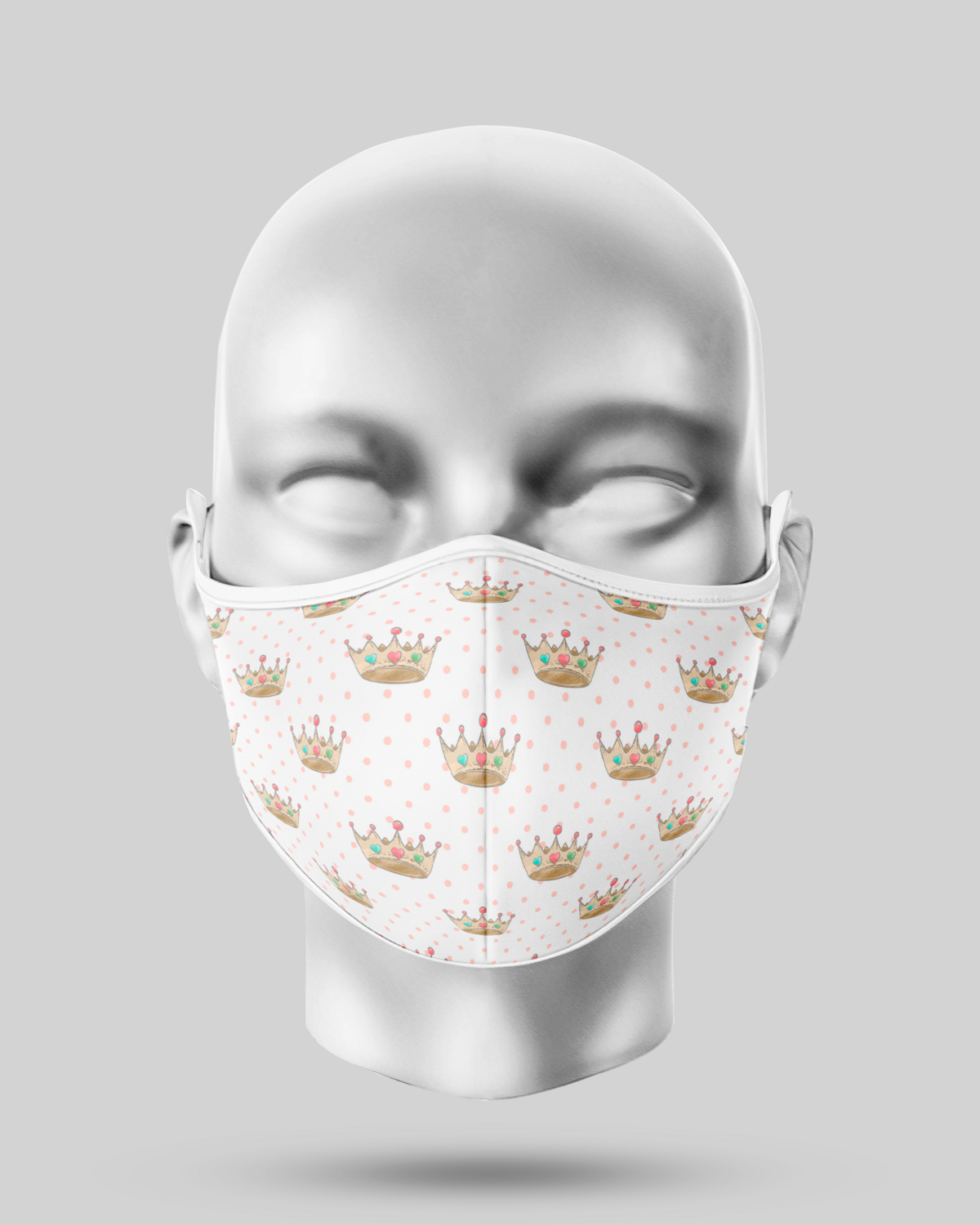 White Crowns Face Mask