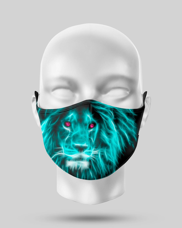 Neon Lion Face Mask