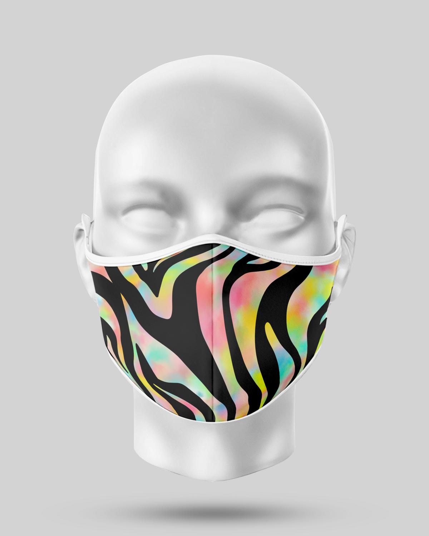 Yellow Zebra Face Mask