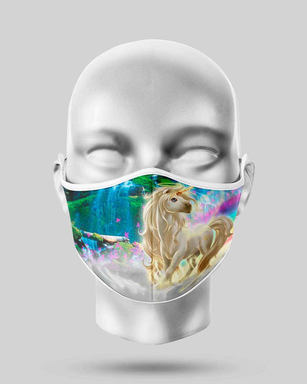 Gold Unicorn Face Mask