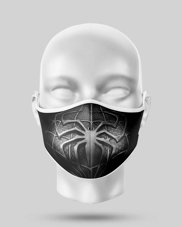 Black Spideman Face Mask
