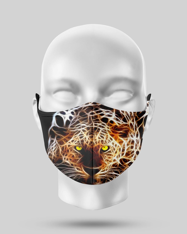 Neon Cheetah Face Mask