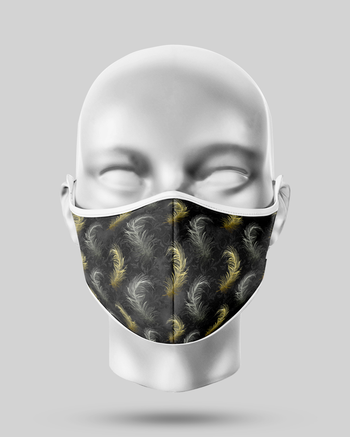 Black Feathers Face Mask