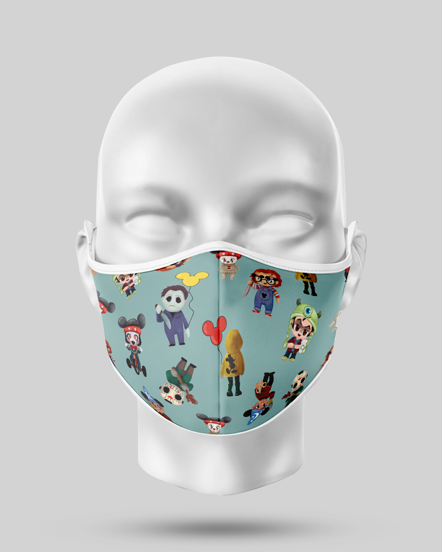 Cartoon Halloween Villian Face Mask