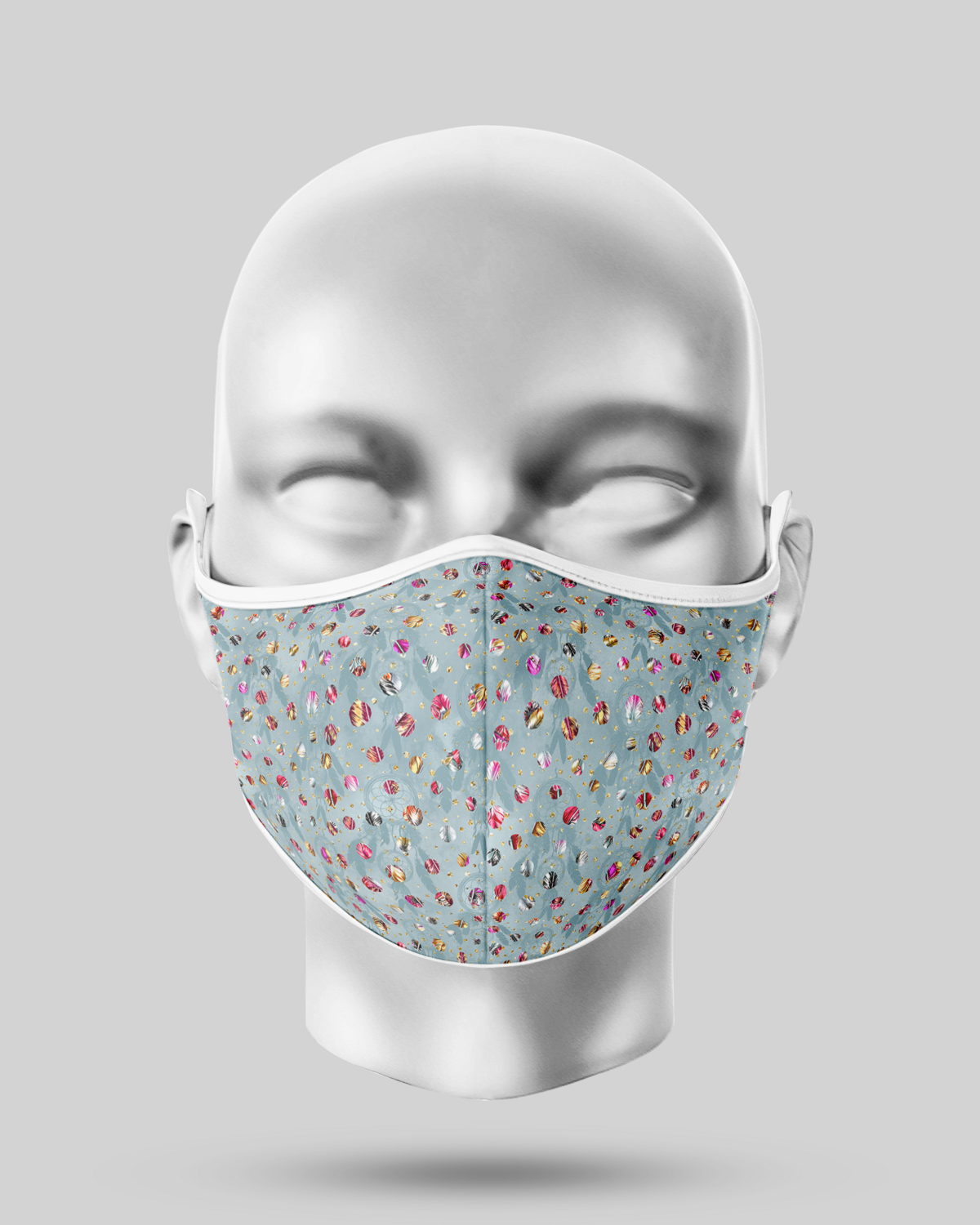 Feather Dots Face Mask
