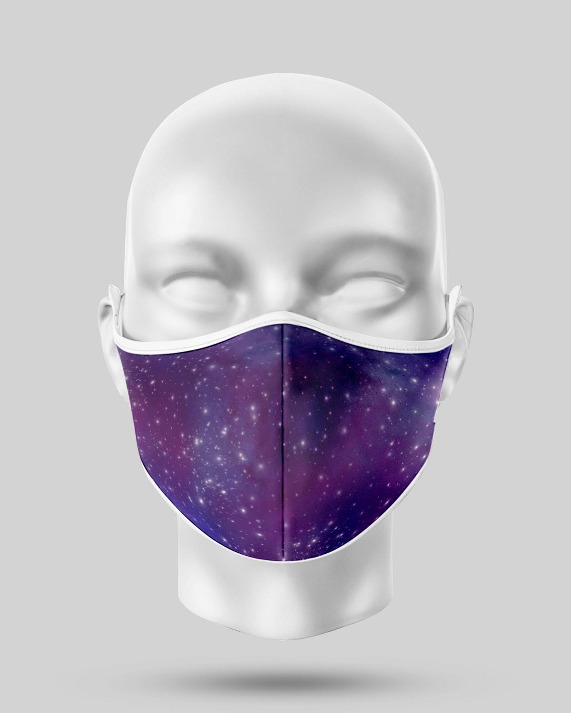 Dark Purple Galaxy Face Mask