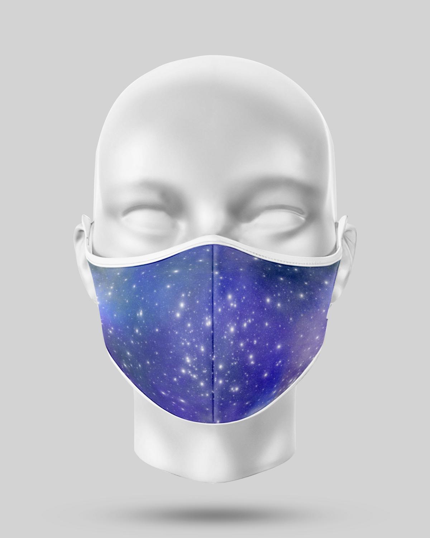 Blue/Purple Galaxy Face Mask