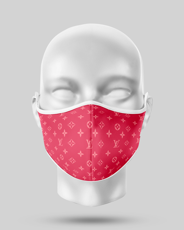 Pink LV Face Mask