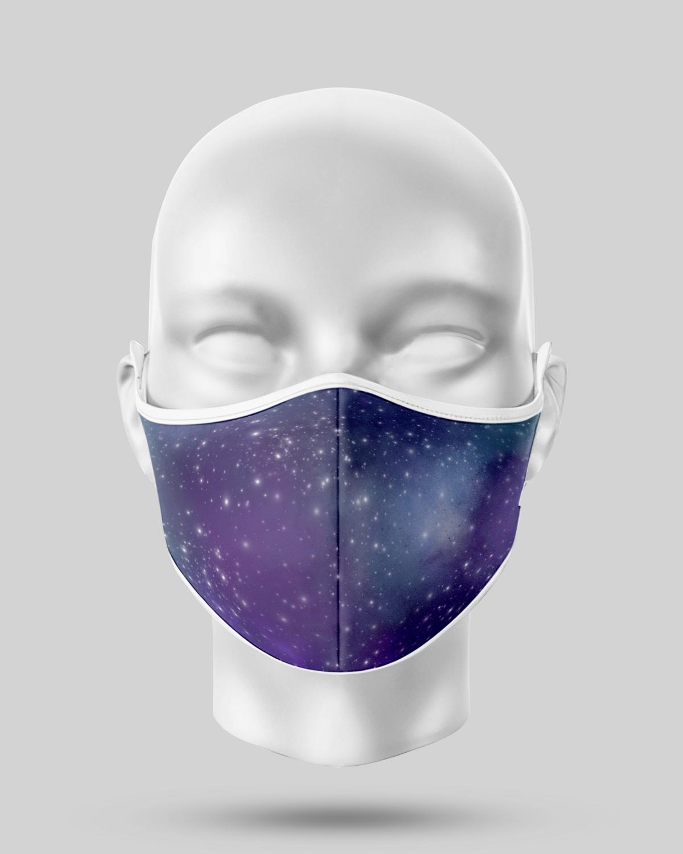 Purple Galaxy Face Mask